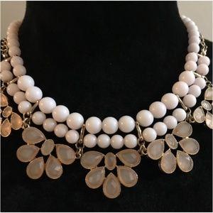 ALDO Pink Embellished Statement Necklace